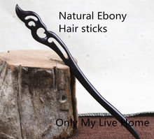 Vintage Natural Ebony Hair Sticks Fashion Simple Headwear Ancient Costume Accessories Chinese Wooden Jewelry