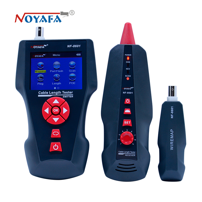 Image 2 - New NF 8601 Multi functional Network Cable Tester LCD Cable length Tester Breakpoint Tester English version NF_8601-in Networking Tools from Computer & Office