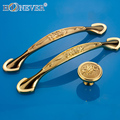 5pcs Modern Gold Door Handle Concise Hardware Kitchen Cupboard Cabinet Handles Wardrobe Handle Solid Drawer Pull