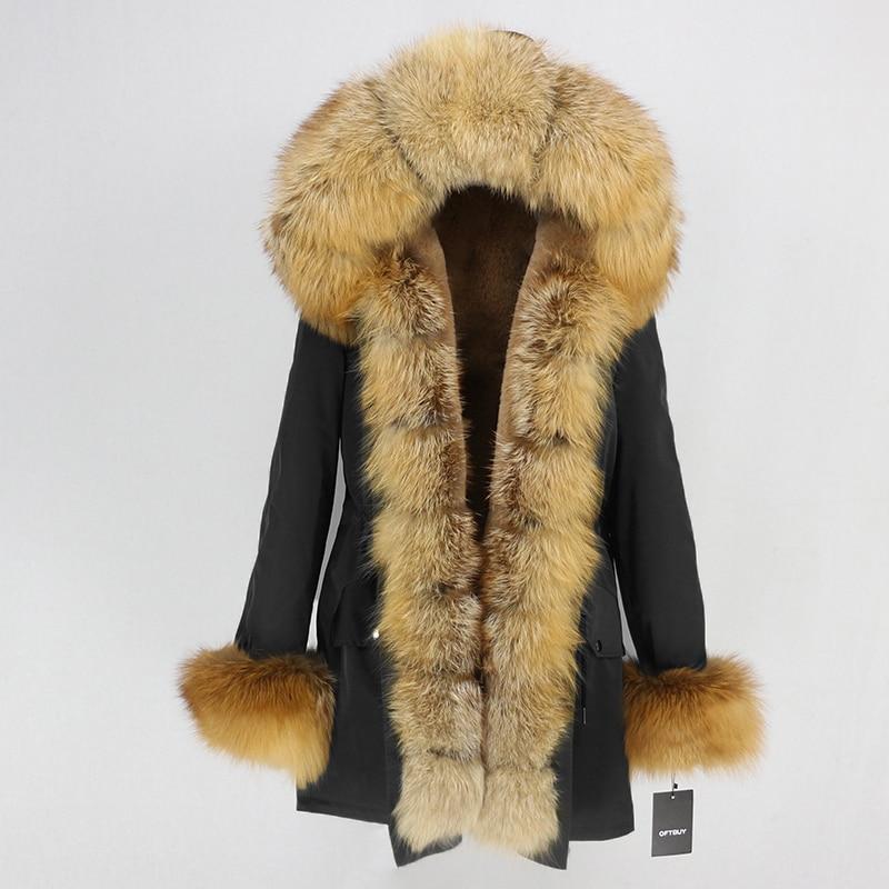 OFTBUY Waterproof Long Parka Winter Jacket Women Real Fur Coat Natural Fox Fur Collar Hood Thick Warm Streetwear Detachable New 41