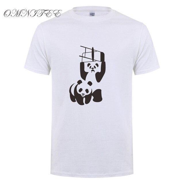 61f14bef5dcc5e WWF Wrestling Panda Men T Shirt Summer Short Sleeve T-shirt Men Cotton  O-neck Summer Funny Men T-shirt Tops OT-460