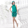 Elegant Green Sheath Mini Feather Lace Cocktail Dress 2017 Short Chiffon Prom Gown vestido de festa curto robe de cocktail