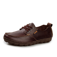 Brand CAMEL Men's Flats Real Cow Leather Spring Hot Men Shoes Zapatos Vintage Zapatillas Summer Tenis Designer Walking Shoes