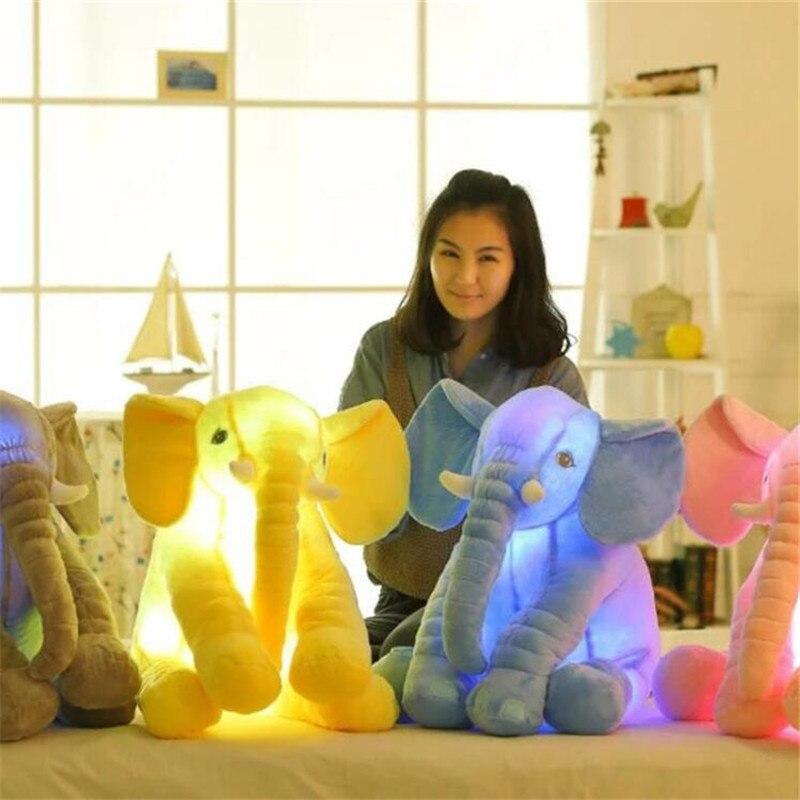 Детская мягкая, мягкая, светящаяся, слон, Playmate, спокойная кукла, слон, подушка, плюшевые игрушки для малышей, Led, рождественский подарок