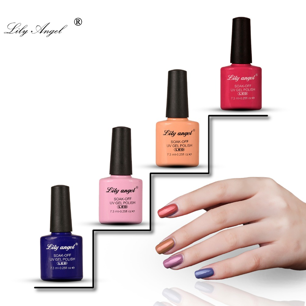 Lily angel 2018 New Nail Art Design Nude Gel Polish 7.3ml 110 Colors Soak Off uv led gel nail polish Lacquer set