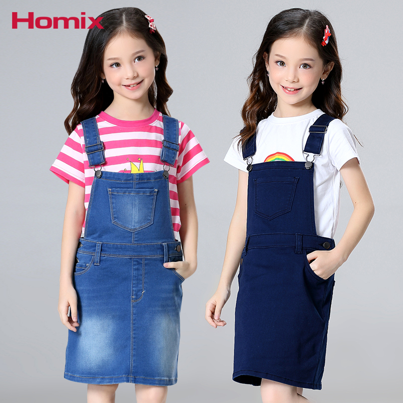 Baby Girls Dresses 4T-12T Girls Overalls Denim Pinafore Dungarees Kids Jumpsuits Children Clothes Kids Clothing 4t 12t girl denim jeans trousers pants children clothes kids clothing