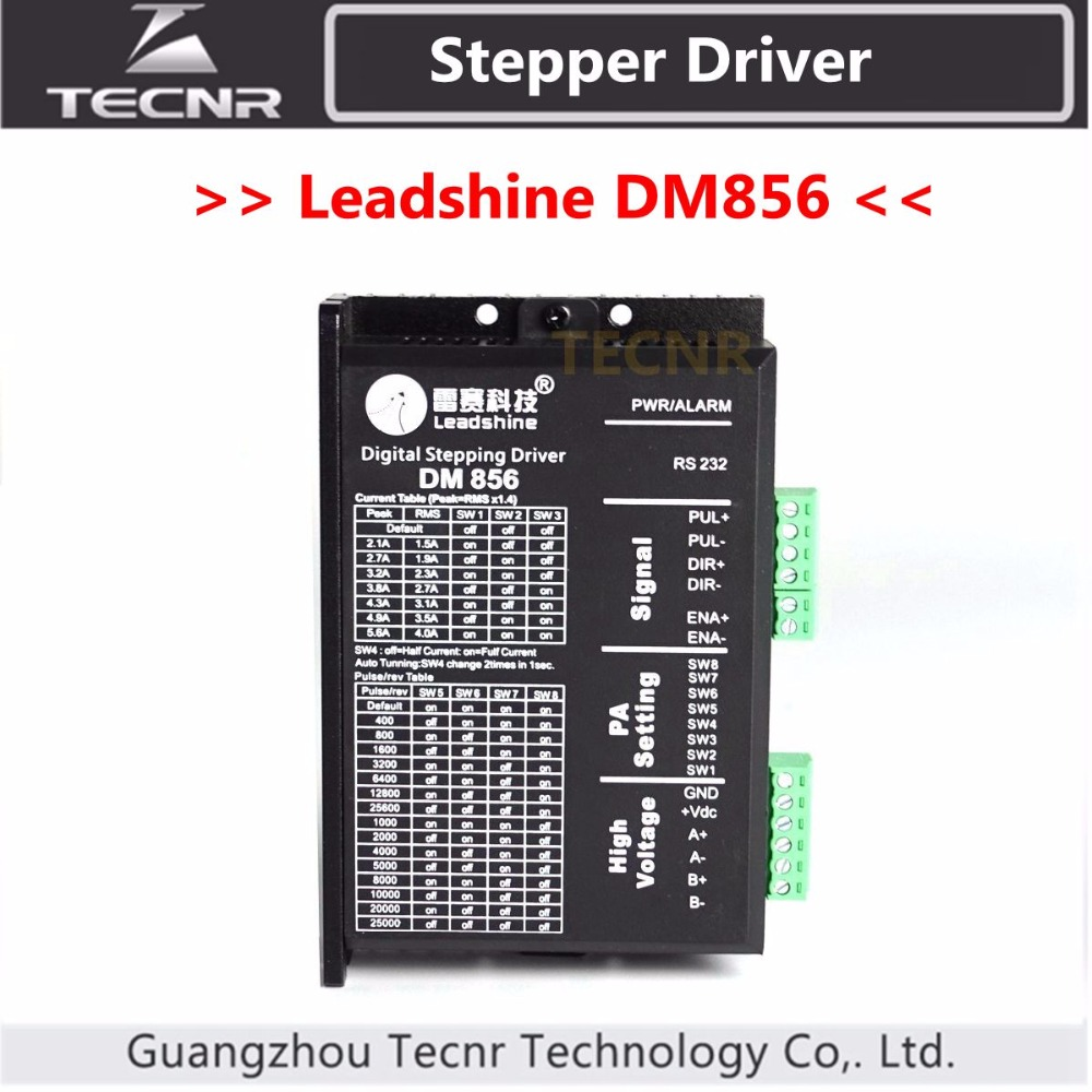 Leadshine DM856 Stepper Driver DC18-80V For 2 Phase Nema23 Nema34 Stepper Motor 3pcs lot 2m2260 nema34 42 51 2 phase ac stepper motor driver 220v stepper driver