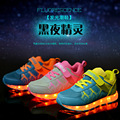New Children's Shoes Girls Casual Shoes USB Charging Spring Luminous Sneakers LED Glowing Boys Sports Shoes Kids Outdoor Cool