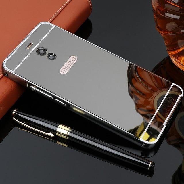 more photos edf4a a3598 US $3.7  For Meizu M6 Note Case 5.5'' Mirror Aluminum Metal Bumper Hard  Acrylic Back Phone Cases For Meizu M6 Note Case Cover M6Note-in Phone  Bumper ...