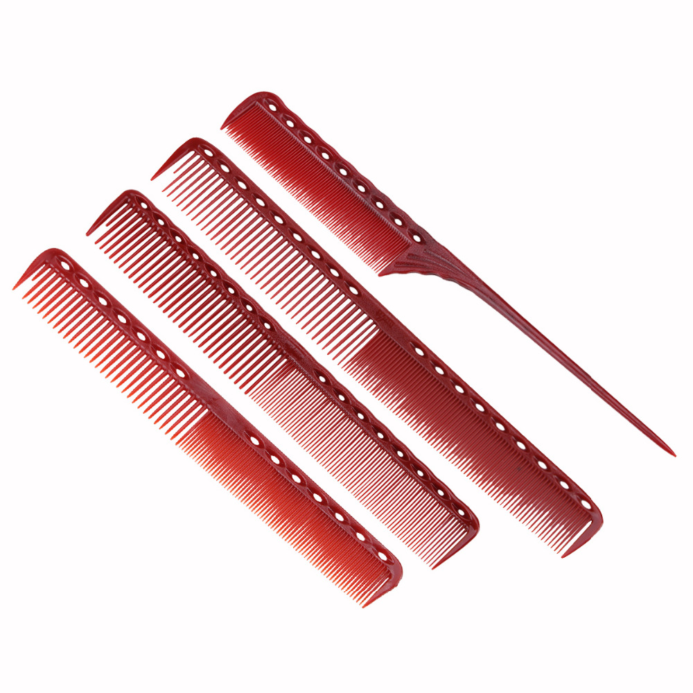 4 Style Anti static Red Comb Detangling Hairstyling ...