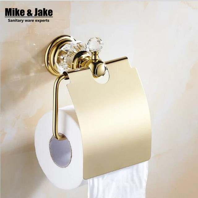 Luxury Gold Crystal Toilet Paper Holderpaper Roll HolderTissue Gorgeous Paper Dispensers Bathroom Collection