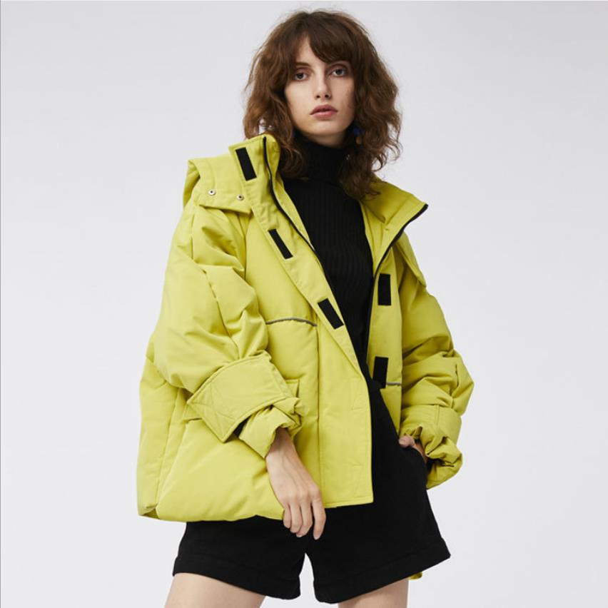 90% duck   down   fashion brand winter Europe station England style   down   jacket female Plastic stickers hooded   coat   wq804 dropship