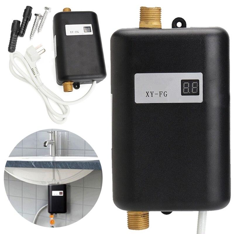 3800 Вт 220 В мини мгновенный Tankless Электрический водонагреватель дома Ванная комната Кухня мгновенный кран с нагревом смесители для душа