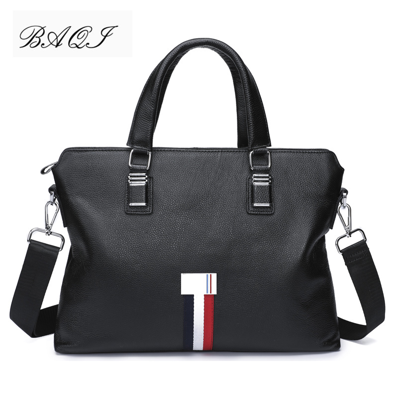 BAQI Brand Men Briefcase Bag Genuine Cow Leather Men HandBags Man Shoulder bags Messenger Bag 2019 Fashion Computer Business BagBAQI Brand Men Briefcase Bag Genuine Cow Leather Men HandBags Man Shoulder bags Messenger Bag 2019 Fashion Computer Business Bag