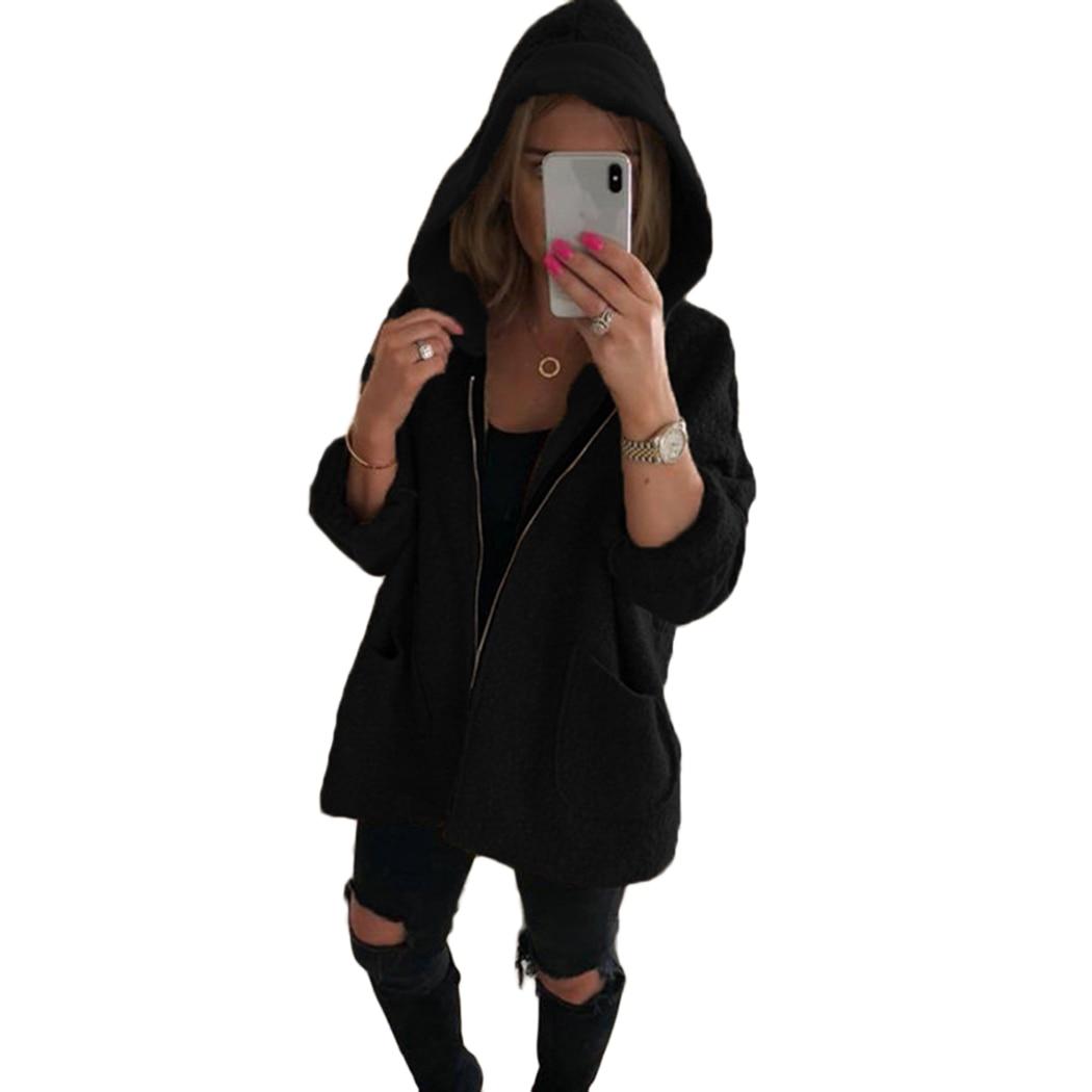 autumn winter women shaggy hooded jacket teddy bear coat. Black Bedroom Furniture Sets. Home Design Ideas