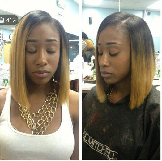 Short Ombre Blonde Brazilian Bob Wig Cheap Beyonce Glueless Front