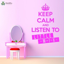 YOYOYU Vinyl Wall Decal Keep Calm And Listen To Little Mix Small Crown Statement Music Interior Stickers FD162