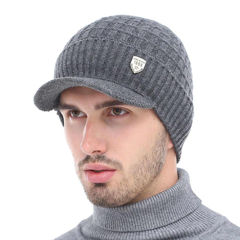 AETRUE invierno sombrero gorros sombreros de invierno gorros para hombres bufanda de lana para mujer gorros pasamontañas máscara Gorras sombrero de punto