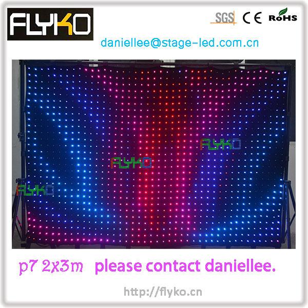 Envío Gratis flexible led p70 cloth venta caliente 2x3 m boda telón de fondo led