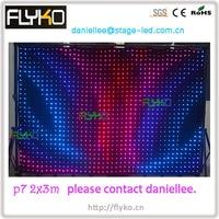 Free Shipping flexible led cloth hot selling p70 2x3m led wedding backdrop
