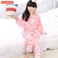 2016 Autumn Winter Girls Pijamas Sets Flannel Loungewear Girl Housecoat Girls Nightgowns Sleepwear Dressing gowns for children