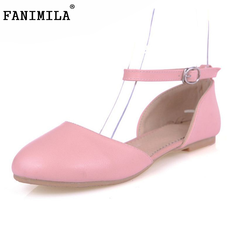 Women Flat Sandals Fashion Ladies Round Toe Flats Womens High Quality Candy Color Girl Shoes Leisure Shoes Size 32-43 PA00502 women flat sandals fashion ladies pointed toe flats shoes womens high quality ankle strap shoes leisure shoes size 34 43 pa00290