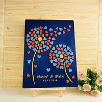 Personalized Wedding Guest Book , Birthday Party Decor Colorful Balloons 3D Guest Book,Baby Shower Christmas Decoration