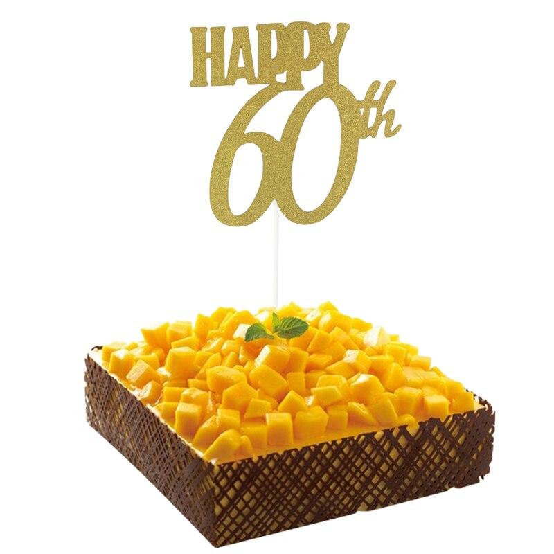 Aliexpress.com : Buy 1pc Gold Happy 30th/40/50/60 Topper Glitter ...