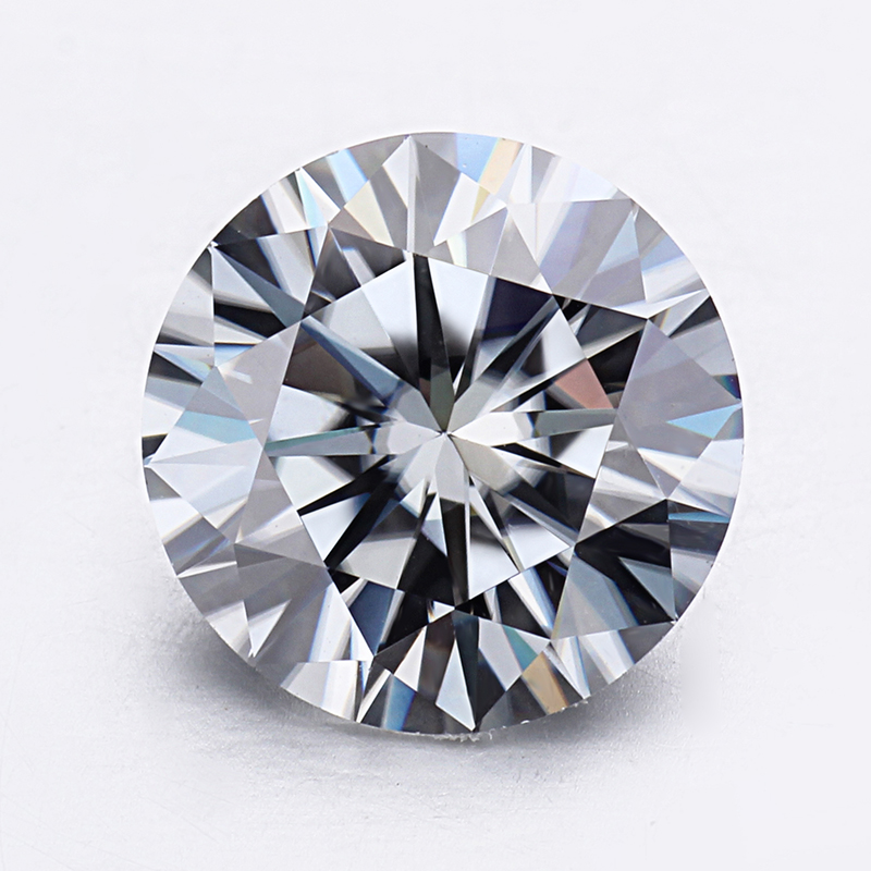 Gray color Round Brilliant Cut 1ct 6.5mm Lab Created Moissanites diamond for Ring. image