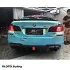 V стиль, настоящий автомобильный диффузор из углеродного волокна, задняя губка для BMW F10 M5, задний бампер, спойлер, фартук для автомобиля, стильный светодиодный светильник - 6