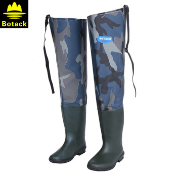 663377dec66b0 Bottes imperméables bottes de chasse cuissardes pour pêche cuissardes pêche  hiver bottes de pêche Wading chaussures caoutchouc cuissardes botte  caoutchouc