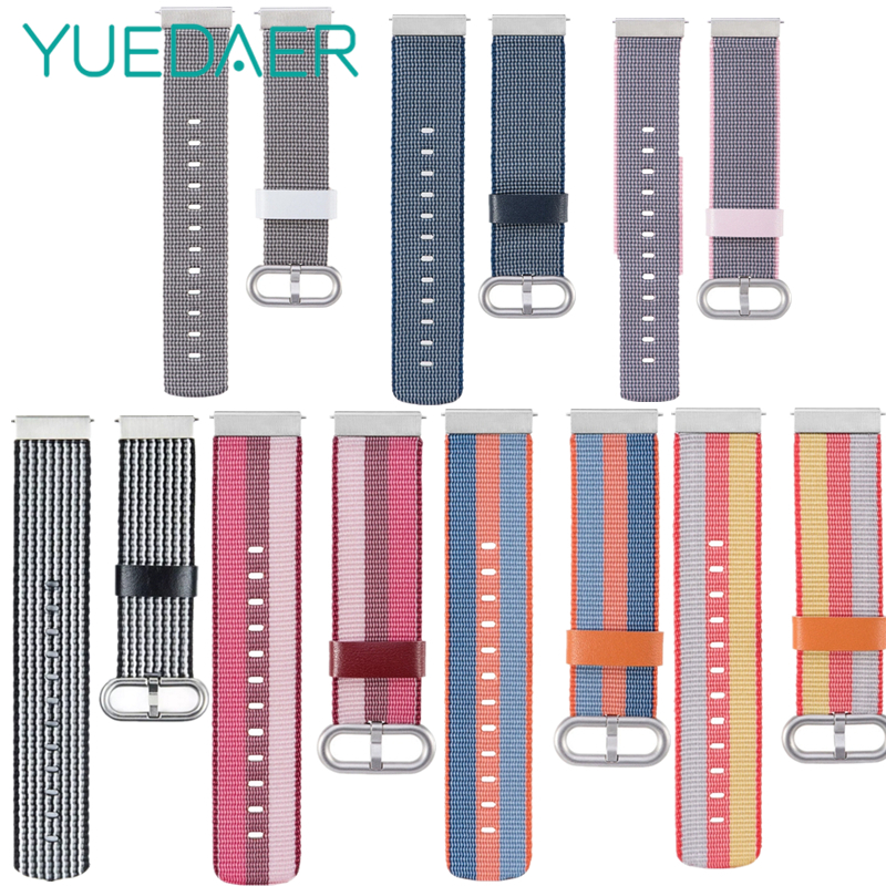 Colorful Splice Nylon Strap For Xiaomi Huami Amazfit Bip Bit Youth Watch Band Accessories