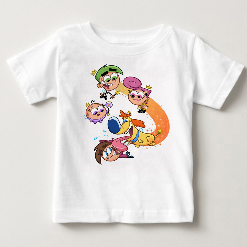 The Fairly OddParents summer short sleeved kids Timmy summer Tshirts boys tops kids and girls tshirt babe t-shirt tops Timmy MJ