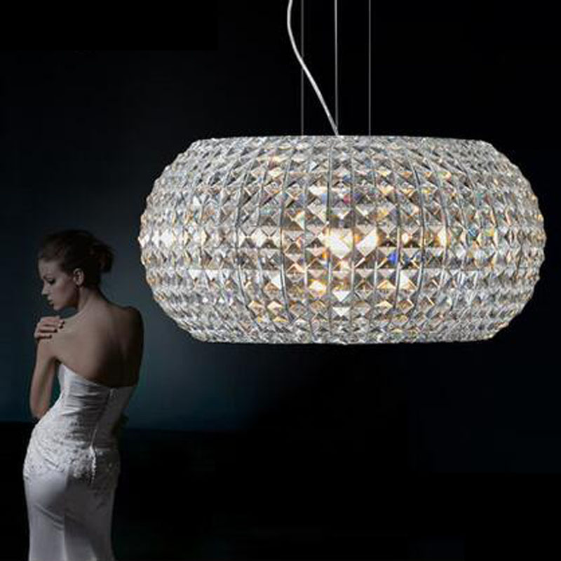Modern Crystal Pendant Light Ellipsosome Pendant Light Lighting Used in Dining Room Living Room Clothing led lighting fixture
