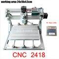 CNC 2418 GRBL управления Diy CNC машина  рабочая зона 24x18x4 5 см  3 оси Pcb ПВХ фрезерный станок  фрезерный станок по дереву  резной гравер  v2.5