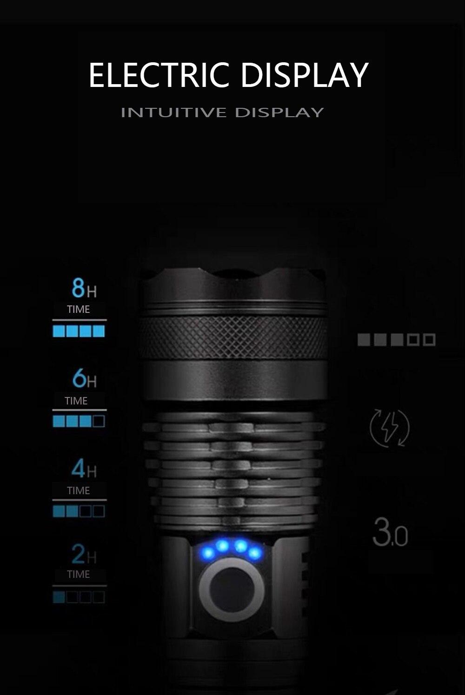 usb Zoom Tático xhp50 18650 ou 26650