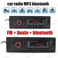Car Audio Stereo Player Bluetooth music phone Auxin MP3 FM USB SD 1 Din size remote control Car Radio Audio Auto hot sale