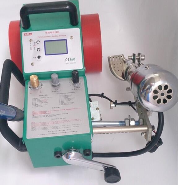 Machine de couture de chaleur de tissu d'impression de LC-3000C, machine de soudure courante automatique de bannière d'air chaud, coutures imperméables de revêtement de PVC m