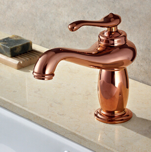 Christmas Lantern Rose Gold Solid Brass Bathroom Vanity Sink Basin Torneira Banheiro Cozinha Faucets Mixers Taps Up S101a In Basin Faucets From