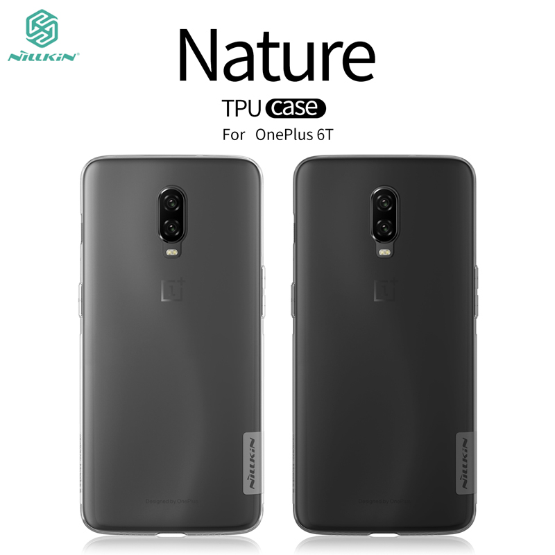 For Oneplus 6t Case Cover NILLKIN Ultra Thin Slim TPU Case