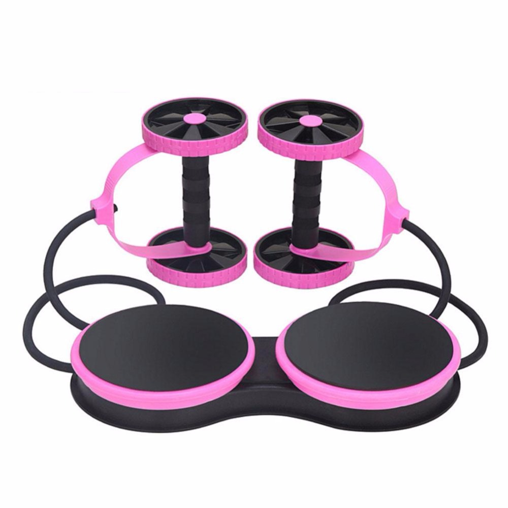 Hommes/femmes Crossfit exercice équipement d'entraînement minceur AB abdominaux doubles roues rouleau équipement de Fitness