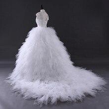YEWEN Cap Sleeve Wedding Dress Bride Dresses