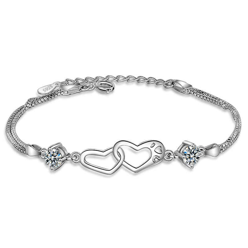 Heart-shaped bracelet women's fashion bracelet girls accessories