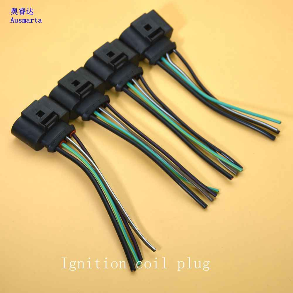 small resolution of  4 pcs oem ignition coil connector repair kit harness for vw beetle golf a4 a6 1 8