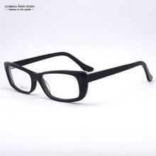 Pure Black Commercial Style Square Shape Men/Women Acetate Optical Eyeglasses/Classicial Single Color Full-Frame Glasses M32536F