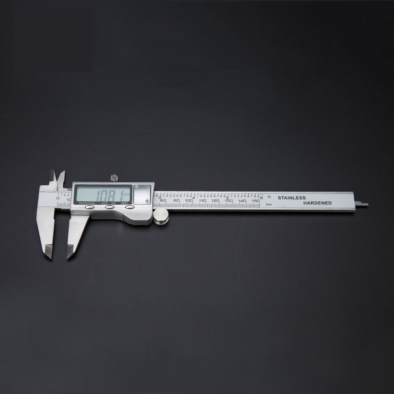 """0-150mm 6 """"edelstahl Pachometer Digitale Messschieber Stahngel Gauge Pachymeter Tiefenmessschieber Gutes Renommee Auf Der Ganzen Welt"""
