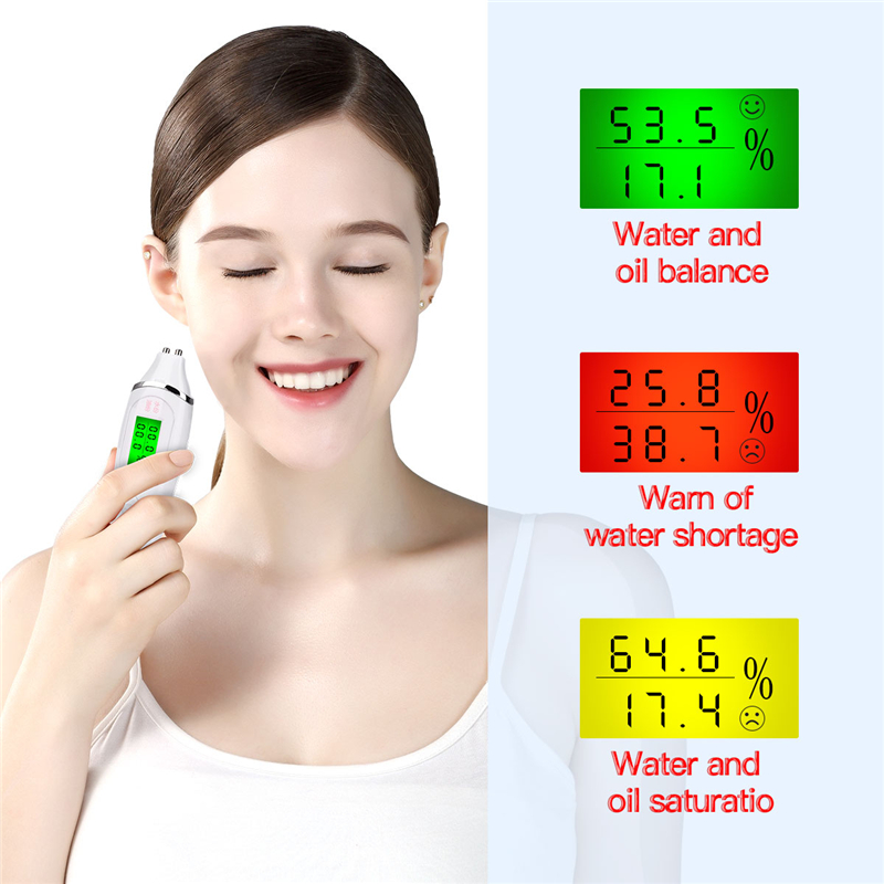 High-precision LCD Digital Skin Tester Face Care Tool Monitoring Care Tester Moisture Oil Content Analyzer Monitor Detector 21