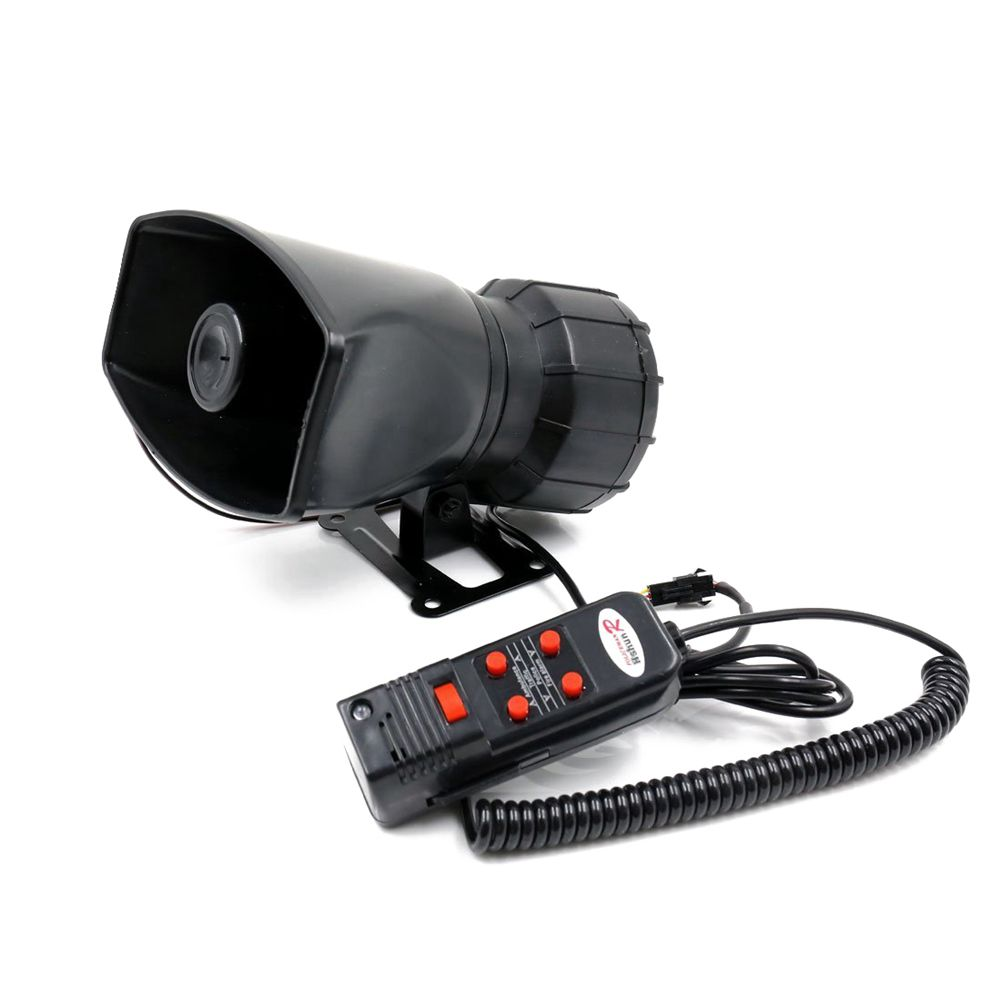 AUTO -DC 12V 100W 300dB 5 Sounds Tone Car Loud Air Horn Siren with Microphone ...