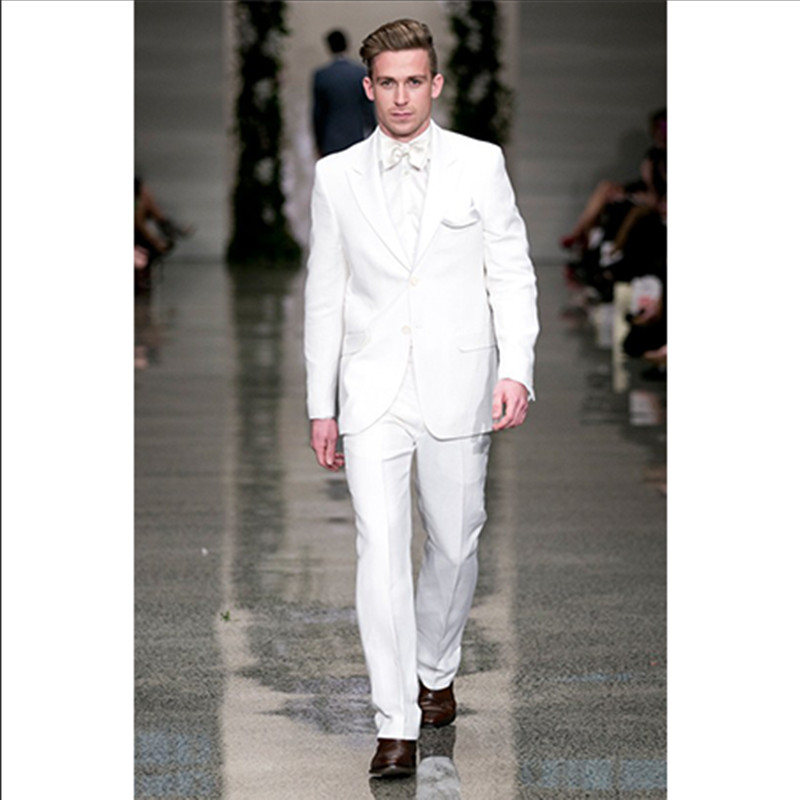 western wedding suits men white tuxedo for man custom made suit high quality 2016 prom wear