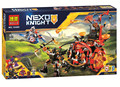 HOT BELA 10489 14005 Nexo Knights Jestro Evil Mobile Combination Marvel Building Blocks Kits Toys  Compatible Nexus